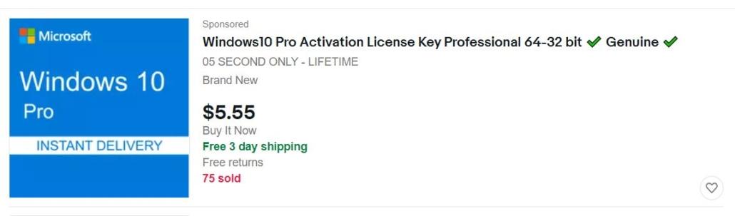 windows product key ebay purchase